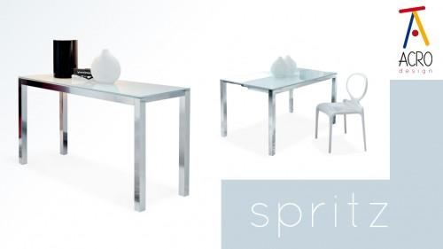 Spritz tavolo consolle che si allarga tavoli allungabili consolle acrod - Tavolo vetro temperato opinioni ...